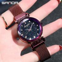 三达抖音同款手表网带时尚简约款女生潮流米兰带防水女生腕表 不含手镯