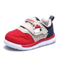 史努比童鞋男童运动鞋儿童网面鞋小童学步鞋女童休闲鞋
