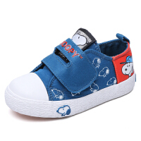 史努比童鞋男童帆布鞋儿童运动鞋中小童布鞋时尚板鞋