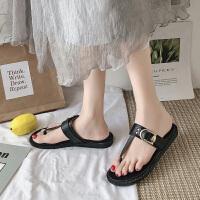 时尚网红新款夏季人字拖鞋女外穿海边度假沙滩夹趾平底鞋女潮