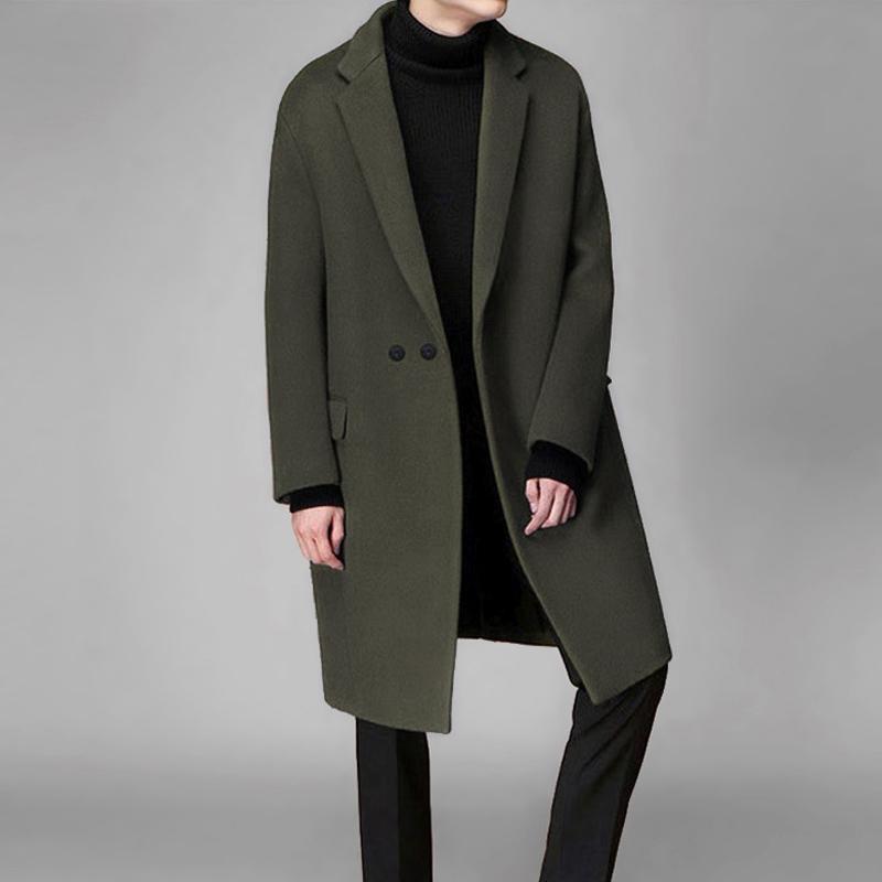 风衣男中长款新款帅气韩版落肩毛呢大衣冬季加厚羊毛呢子外套 一般在付款后3-90天左右发货,具体发货时间请以与客服协商的时间为准