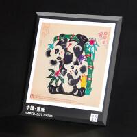 剪纸画 中国特色礼品送老外中国风出国礼物手工艺品 手工剪纸窗花