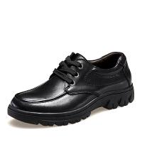 货到付款 ROWOO罗宇商务正装皮鞋 加大码时尚个性舒适男鞋 低帮鞋系带鞋