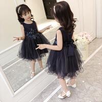 女童春装连衣裙新款儿童装夏季刺绣裙子韩版小女孩洋气公主裙
