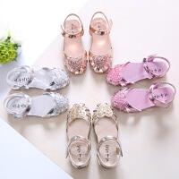 女童凉鞋夏 公主可爱1-3岁儿童平底凉鞋包脚中大童学生沙滩鞋