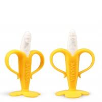 香蕉硅胶牙胶磨牙棒安抚奶嘴可高温消毒新生儿宝宝婴儿咬咬乐玩具0-12个月 1440