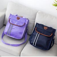 小学生用补习袋补课包中学生手提袋帆布书本收纳袋男女儿童单肩书包斜挎包A4手拎包美术袋多层卡通拉链袋