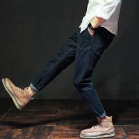 秋季哈伦裤男士宽松大码牛仔裤男日系复古潮流小脚裤宽松长裤子潮 常规款 X