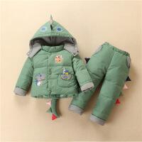儿童羽绒服套装0-1岁女宝宝冬装3周岁半男女童小孩棉衣服韩版潮2
