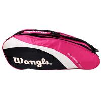 WANGLS王牌 6支装羽毛球拍包 运动包双肩羽球包 尼龙布FU包