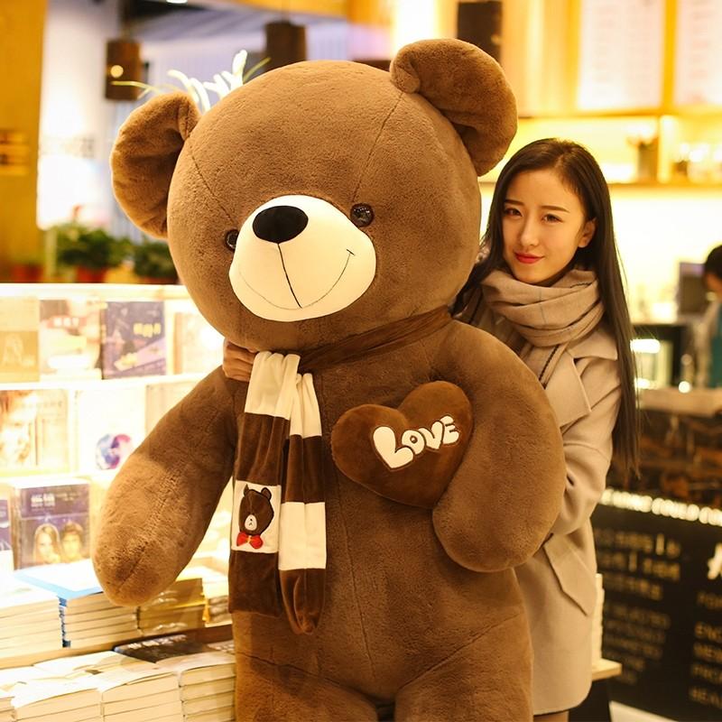 大熊毛绒玩具送女友泰迪熊熊猫公仔布娃娃女生可爱睡觉抱抱熊女孩 不掉毛无异味代写贺卡打印照片