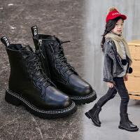 女童马丁靴新款潮加绒短靴子雪地靴二棉鞋秋冬款