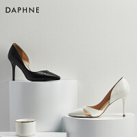 Daphne/达芙妮 春季气质婚鞋细跟浅口高跟鞋尖头鞋单鞋