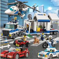 男孩子拼装大颗粒飞跃敌营区儿童益玩具2-3-5-6岁积木飞机系列