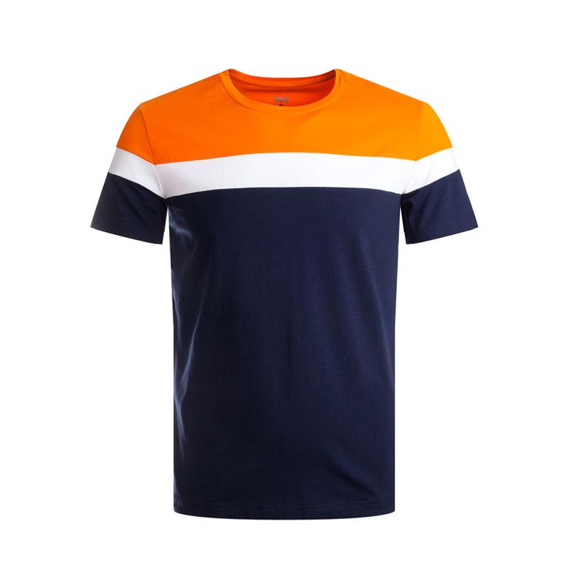 沃特运动T恤男夏季新款圆领针织短袖透气吸汗轻便薄休闲运动服