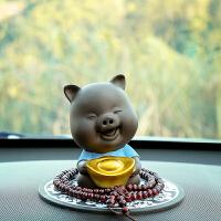 创意汽车摆件可爱陶瓷猪八戒车载摆件车内装饰品车上用品招财进宝
