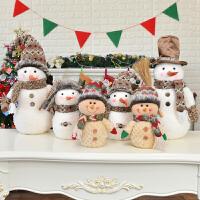 圣诞装饰品摆件圣诞娃娃公仔雪人道具儿童礼物圣诞节礼品挂件礼物