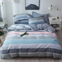 四件套全棉纯棉学生宿舍床单被套被子三件套网红床上用品