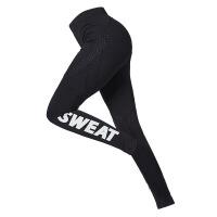 瑜伽长裤女健身裤女紧身运动跑步女长裤蜜桃臀弹力打底训练裤 黑色A001长裤