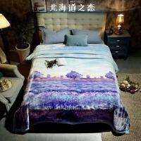 伊丝洁家纺2017秋冬款棉被子拉舍尔毛毯被子加厚秋冬季双层保暖羊毛绒毯单人双人珊瑚绒盖毯子 200x230cm 6斤