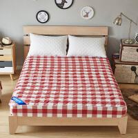 纯棉床笠单件全棉夹棉席梦思保护套防尘加厚防滑薄床垫套1.8m床罩
