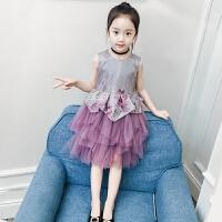 女童连衣裙夏装新款洋气儿童背心纱裙女孩公主裙蓬蓬裙子夏季