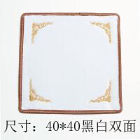 珠宝柜台首饰展示布双面绒布玉石翡翠看货布文玩垫布黑白背景双面定制
