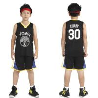 新赛季勇士库里30号儿童篮球服 童装背心短裤35号杜兰特球衣套装