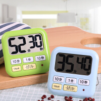 日本LEC计时器学生秒表提醒器闹钟大声音厨房定时器电子倒计时器