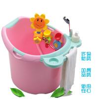 婴儿浴盆宝宝洗澡盆加厚可坐洗澡桶新生儿用品小孩儿童浴桶大号gr5