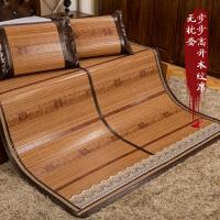 竹席凉席1.5 1.8m床折叠 双面席子1.35米竹凉席双面木纹席