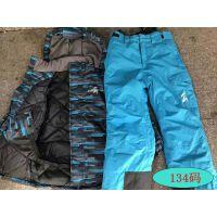 德国冬季防风防水儿童滑雪服套装男童加厚保暖滑雪衣裤两件套大码 蓝色 134