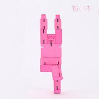 20180716123107663木头魔方机器人创意儿童情人节生日礼物送女友闺蜜新奇小礼品DIY