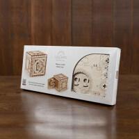 乌克兰木质机械传动模型拼装玩具保险箱密码箱抖音礼物盒子 抖音