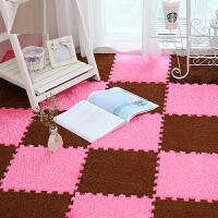 松针绒拼接地垫卧室床边泡沫地垫客厅茶几绒毛款地垫柔软舒适