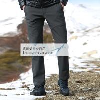 20180410000811599新款户外冲锋裤男软壳裤女冬季防风防水保暖抓绒登山滑雪裤