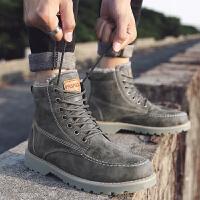 冬季时尚男鞋防水马丁靴加绒保暖棉鞋高帮雪地靴军靴东北加厚靴子棉靴