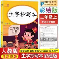 生字抄写本二年级上册 语文人教部编版同步字帖