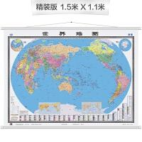 世界地图挂图((双全开 无拼缝专业挂图)