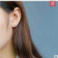 925银耳钉女韩版自行车耳钉女时尚可爱迷你小单车耳钉简约 可礼品卡支付