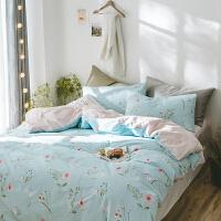 北欧简约风棉四件套小清新田园棉学生寝室宿舍床上用品三件套