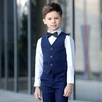 儿童演出服套装马甲钢琴表演花童礼服男儿童礼服男童礼服长袖黑色