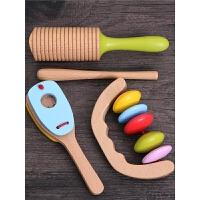 婴儿玩具手摇铃套装幼儿童宝宝早教益智0-2岁木制玩具