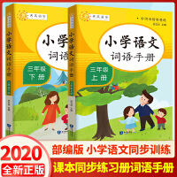 小学语文词语手册三年级上下册 部编人教版语文字词句篇精讲精练