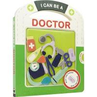 【首页抢券300-100】I Can Be A Doctor 趣味早教玩具书 我能当医生 启蒙认知 沉浸式学习 英语拼图