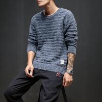 冬季外套男士毛衣韩版潮流圆领毛线衣青年套头宽松针织衫男