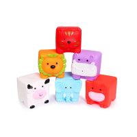 欧培 婴儿洗澡喷水戏水玩具0-1-2-3岁儿童宝宝搪胶动物套装 6只装