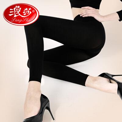 浪莎丝袜女士天鹅绒防勾丝九分裤性感打底袜肉色黑丝袜子春秋