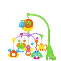 婴儿玩具0-1岁新生宝宝床头摇铃 3-6-12个月床铃音乐旋转儿歌故事 绿色 遥控充电版 133个内容