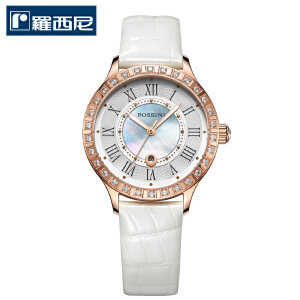 【官方直营】罗西尼正品手表时尚休闲水钻腕表真皮镶钻彩贝石英女表DD12514658